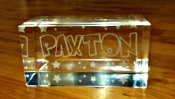 "3"" Thick x 6"" Long Lucite Name Block"