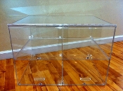 Medium Acrylic Bakery Counter Display Case - 2 Shelves