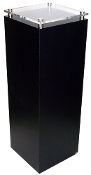 "Black & Clear Square Pedestal w/stand-off - 24"" x 12"""