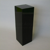 "Black Square Pedestal - 24""  x 12"""